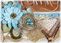 Such a Pretty Mess: Making a DIY Bird Nest Embellishment