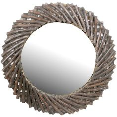 Dylan Wood Wall Mirror.