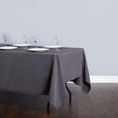 Rectangular Polyester Tablecloth Charcoal