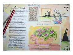 garden journasl March by art by kim the Ink Cat, via Flickr