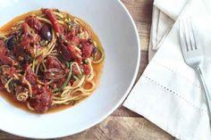 16. Zucchini Spaghetti Puttanesca