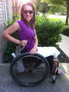 Stylish Gimp. Paraplegics like style, too. Wheelchair Fashion Wheelchair Style