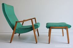 Mid Century Milo Baughman Lounge Chair and Ottoman for Thayer Coggin