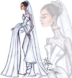 #MeghanMarkle Bridal collection by Hayden Williams: Look 3 #Bridal #RoyalWedding #Royal #Couture