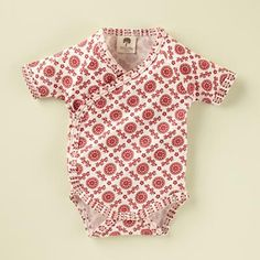 Baby Snapsuits: Kate Quinn Organic Cotton Short Sleeve Kimono Snapsuit