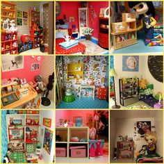 I love the small doll rooms by Herzlichkeiten, via Flickr
