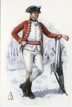 Alix Baker Postcard - AB32/2 Tercentenary 1702-2002 Sergeant, 33rd Regiment of Foot, American War of Independence