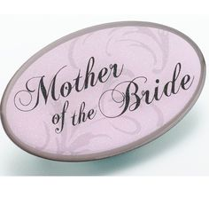 Pink Mother of Bride Pin