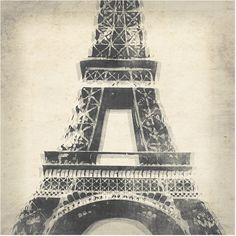 Old Eiffel Tower Canvas Wall Art ($172) ❤ liked on Polyvore featuring home, home decor, wall art, canvas wall art, paris home decor, leftbank art, french home decor and eiffel tower wall art