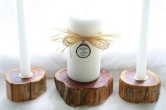 Rustic Wood Unity Candle CedarPersonalized by MillyDilly on Etsy, $45.00