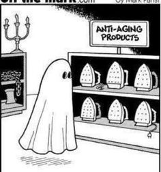 Anti-Aging Products. #Halloween #dermatology #humor