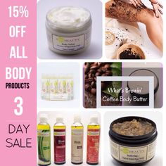 3 Day Sale! 15% Off All Body Products