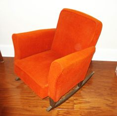 1950's Vintage Child's Upholstered Rocking Chair Commonwealth Of Pennsylvania