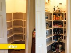 Pantry Before & After: Rotating Shelves (or Pantry Carousels) to the Rescue!