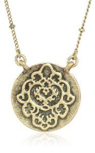 """Lucky Brand Carded Gold Pave Necklace, 19"""""""