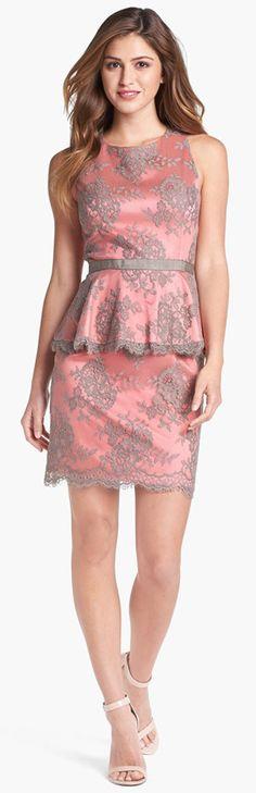 #MillionDollarShoppersLiz Grey and Pink Skirt Suit
