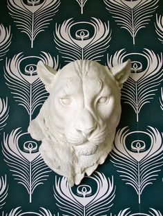 Faux Taxidermy Panther Head Pimmy the Panther by mahzerandvee, $130.00  NEW…