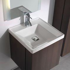 "Bissonnet Universal Minimal 19.7"" Bathroom Vanity Set in Espresso Brown | AllModern"