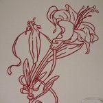 Virágmintás faldekoráció