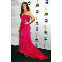 Brooke Shields Fuchsia Strapless Custom Prom Dress 2008 Emmy Awards Red Carpet