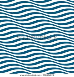 Wavy stripes seamless pattern. Abstract fashion blue and white wave design. Geometric wave texture. Graphic style for wallpaper, wrapping, fabric, background, apparel, other print production. Vector