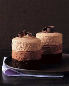 This recipe makes two kinds of mousse: bittersweet chocolate and milk chocolate.