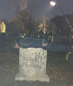 Sam Huntington Planking on Sally's grave ~ Being Human SyFy