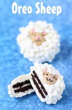 Dip Oreo Cookies in white chocolate then toss on lots of tiny marshmallows and a candy lamb head. These Oreo Sheep make the perfect Easter treat.