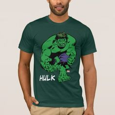 Hulk Retro Stomp T-Shirt - tap to personalize and get yours Cartoon T Shirts, Matching Cards, Halloween Haunted Houses, Great T Shirts, Halloween Outfits, American Apparel, Fitness Models, Retro, Sweatshirts