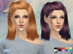 The Sims Resource: Hair 260 by Skysims • Sims 4 Downloads