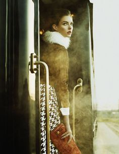 """This was photographed on the Venice Simplon Orient Express by Yuval Hen and styled by Damian Foxe featuring model Auguste Abeliunaite for the Financial Times """"how you spend it"""" Oct 11."""