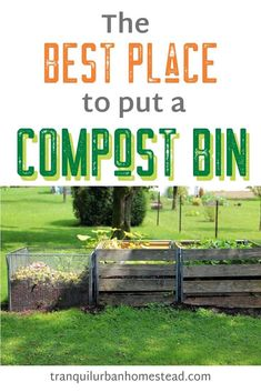 Wondering Where The Best Place To Put A Compost Bin Is? Are There Too Many Variables To Consider? Accommodation Is Key So That You Can Easily Use The Compost. Fall Vegetables, Growing Vegetables, Growing Tomatoes, Best Compost Bin, Homestead Gardens, Garden Compost, Square Foot Gardening, Urban Homesteading, Pergola Designs
