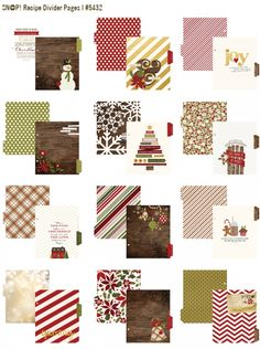 Simple Stories Cozy Christmas The recipe card pages ....wow. They also have the most amazing Flurries papers in several colors in this collection, it's beautiful.