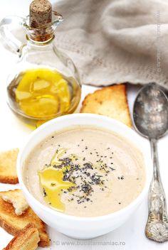 Rețeta rapida de supă crema de linte. Ingrediente si mod de preparare pas cu pas. Hummus, My Recipes, Panna Cotta, Mai, Ethnic Recipes, Soups, Food, Cream, Dulce De Leche
