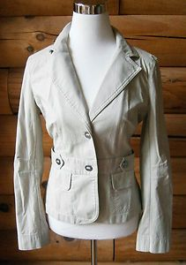 Womens Size 6 Ann Taylor LOFT Light Weight Khaki Colored Tailored Fall Jacket . $16.99 obo FREE SHIP!