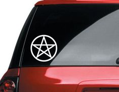 Awesome Etsy listing: https://www.etsy.com/listing/155322280/pentagram-vinyl-car-decal-pagan-wiccan