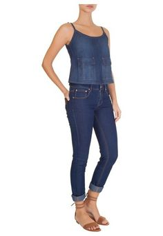 MARKET 33 - Blusa jeans cropped - OQVestir
