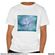 Unicorn with wings fantasy t-shirts