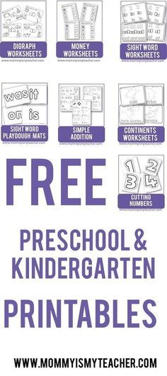 Wow, look at all these fun preschool and kindergarten printables. I can't believe they are all free printables, can't wait to use for my homeschool preschool!