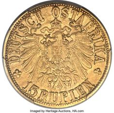 German East Africa: German Colony gold 15 Rupien 1916-T MS63 | Lot #29468 | Heritage Auctions German East Africa, West Africa, Colonial, Gold Money, Gold And Silver Coins, World Coins, African History, Auction, Antiques