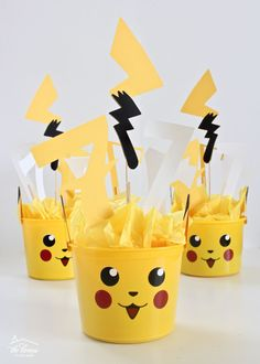 Pokemon birthday party masks pack filler bag table decoration kids pickachu felt