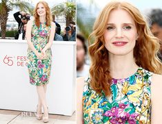 Jessica Chastain In Dolce & Gabbana -  'Madagascar 3 Europe's Most Wanted' Cannes Film Festival Photocall