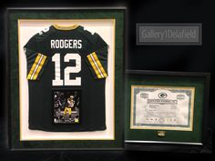 Custom frame your green bay packers stock certificate