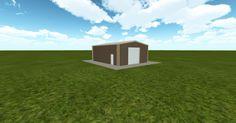 3D #architecture via @themuellerinc http://ift.tt/2jkVr2G #barn #workshop #greenhouse #garage #DIY