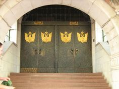 The main doors of the State Bank building (1913) in Nizhny Novgorod ~ Russia