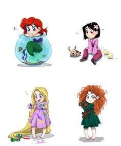 Cute Baby disney characters