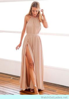 Nude Sexy dress for prom, inspired in Khloe Kardashian