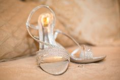 These bridal shoes are elegant, delicate, and look quite comfy.