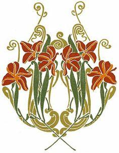 Art Deco image - printable