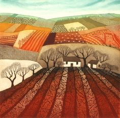 Must start saving! Really want one of these!!! Rebecca Vincent Etching - Ploughed Earth